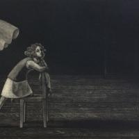 Ami Yamashiro, imagine, 24x36.4cm, Mezzotint