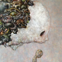 Kazu Watabe, oil on canvas, F10