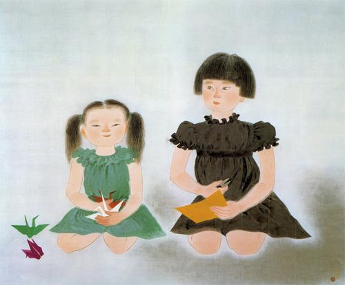 Yuki Ogura [Sisters], Lithograph, 45.3cm x 54.0cm