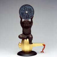 Satoshi Yabuuchi [Chisoku daikoku bō], Bronze, h250mm x w140mm x d101mm