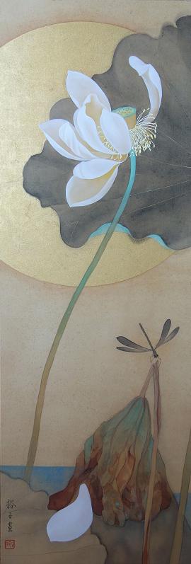 「蓮」30×90cm