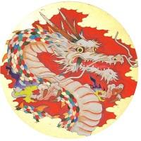 ツジモトコウキ「龍図」円形20号
