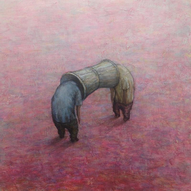 Kaz Watabe, Gottunko, 45.5×45.5cm
