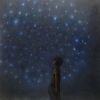 Kaz Watabe, Starry night, 90.9×90.9cm