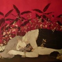 Sanami Shimada, A Token of LoveⅠ, 2014, 80.3 x 116.7 x  2.1 cm