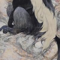Sanami Shimada, melancholic, 2017, 323 x 640 x 2.1 cm