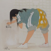熊谷曜志「顔を洗う彼女」F4