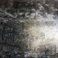 Takashi Seto, City, sometimes waiting #1, 70.0×100.0 cm, silk,silver leaf, lacquer, dye