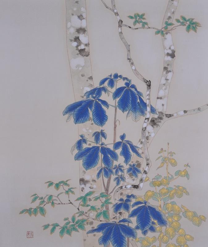 Shigemi Yasuhara, After rain, 45.5×37.9cm