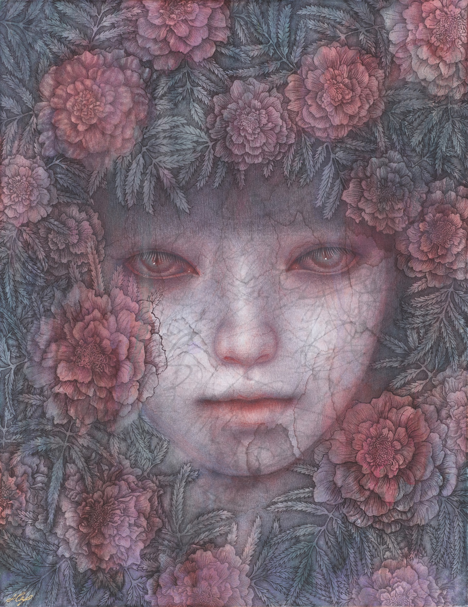 Atsuko Goto, Marigold, F6(41.0 × 31.8 cm)