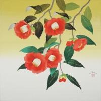 Hiroki Takahashi, Yabutsubaki Saku (Blooming Camellia), S6 (410 x 410 mm)