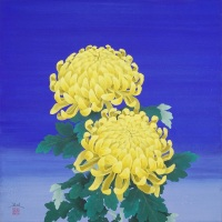 Hiroiki Takahashi, Tairingiku no Hana (Large chrysanthemum flowers), S6 (410 x 410 mm)