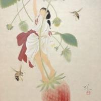 Ichibiko (Red Fruit), 2019, F8(45.5 x 38.0 cm)