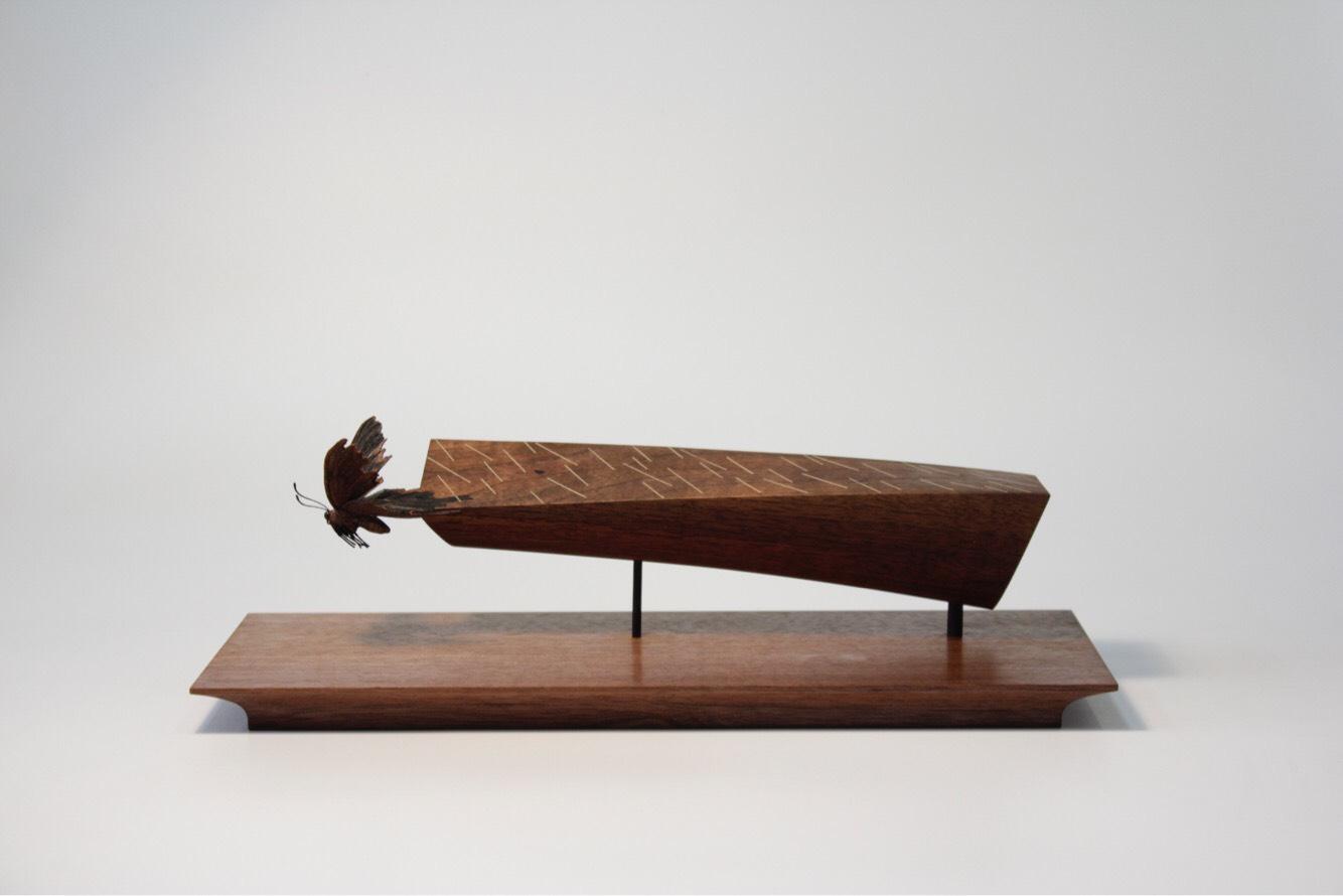 Toru Fukuda, Hakuu (Rain Shower), 2018, 330 × 140 × 100 mm