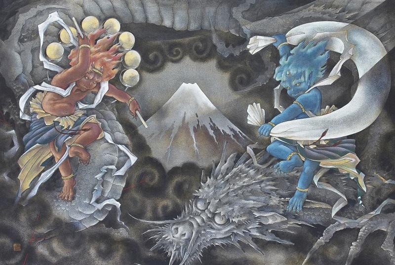 Ken Shiozaki, Fugaku Toryu-zu, 91 x 60.6 cm