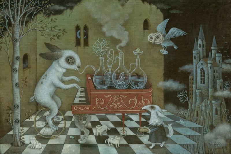 machumaYu, The examination of Music Alchemy, 2019, 27.3 x 41 cm