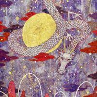 Koki Tsujimoto, Auspicious White Dragon: Tsukimai, 2019, 41 × 53 cm