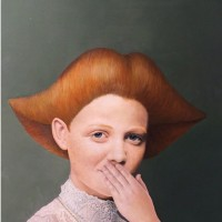 Hyemi Cho, Say or not, 2016, 30.5×30.5 cm, Oil on wood