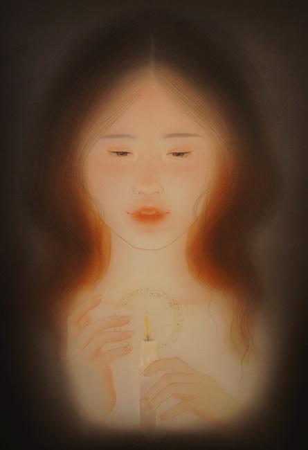 Hao Yumo, Pray, 2019, 53 x 33.3cm