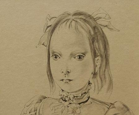 Léonard Tsuguharu Foujita, June Fille au chat, 1950, ink on paper, 23.8×17.5cm (part)