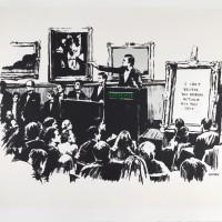 Banksy, Morons, 2006, Screen print, ed 500、56×76cm
