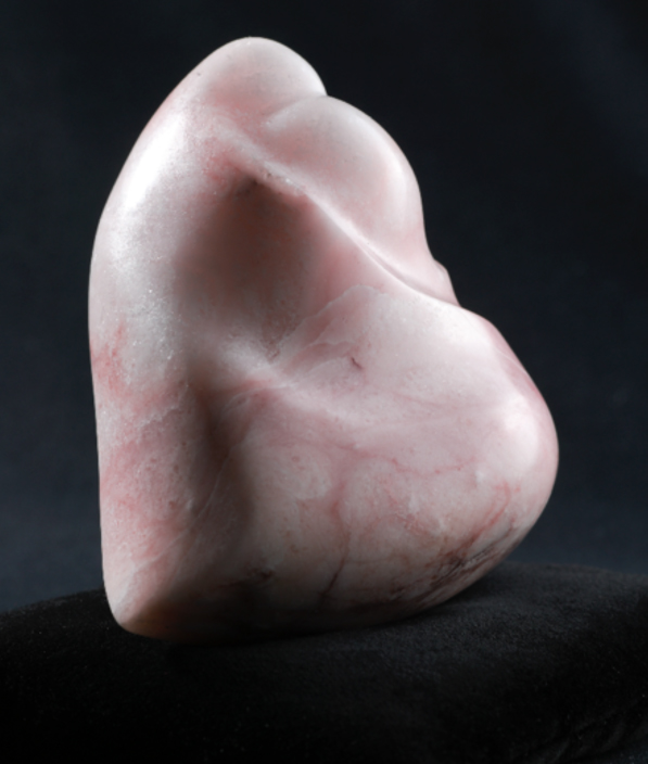 Minako Yoshino, 2006, h14.3cm, Embrace Heart, Mozart pink alabaster,