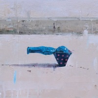 Yohei Yashima, Thrust into, 2020,  30×40 cm, Oil on panel