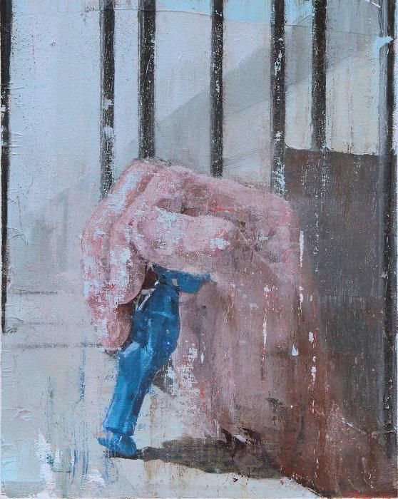 Yohei Yashima, Hand Ⅱ, 2019, 30×24 cm, Oil on canvas board