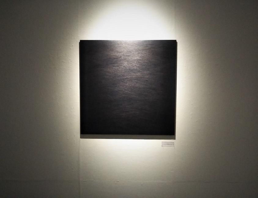 Toshiyuki Kajioka, Sound, 2020, h91 x w91 x d3.5cm, Ink, pencil on hemp paper mounted on wood panel