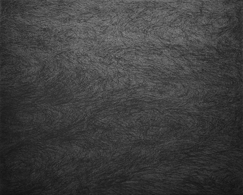 Toshiyuki Kajioka, Yofuke, 2021, h53×w65.2 cm, Ink pencil on Kochi-mashi paper (Japanese paper)