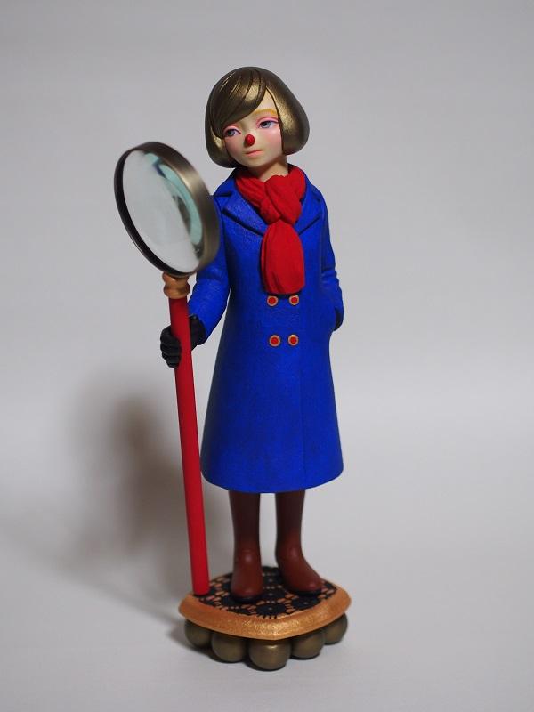 勝田えみ「searching」h 34 × w 15 × d 10.5 cm, 檜、布