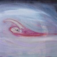 田端麻子「睡魔」271x360x45mm(F4号), キャンバスに油彩