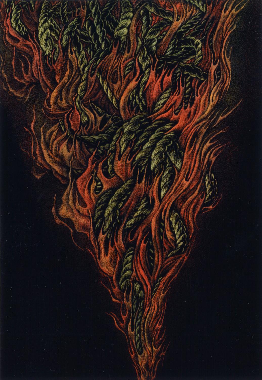 中島敦子「火の祭」P100号, 1995