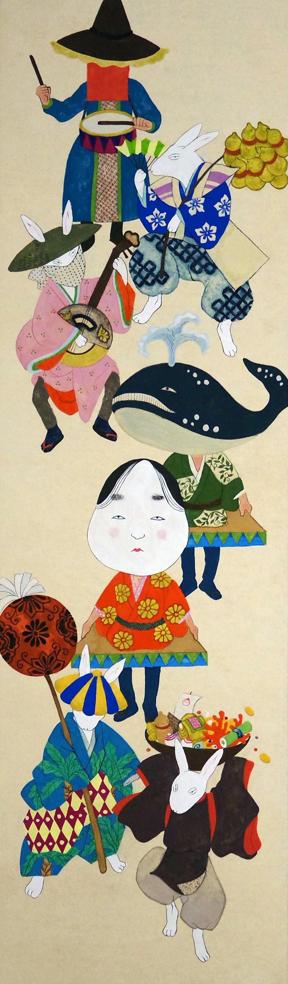 中村あや子「ホレホレ行列」850×250