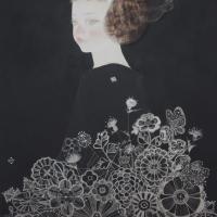 岩﨑絵里「春の野原 」 F8