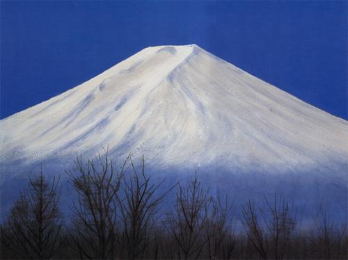 平山郁夫「黎明の富士」リトグラフ, 45.6cm×60.6cm