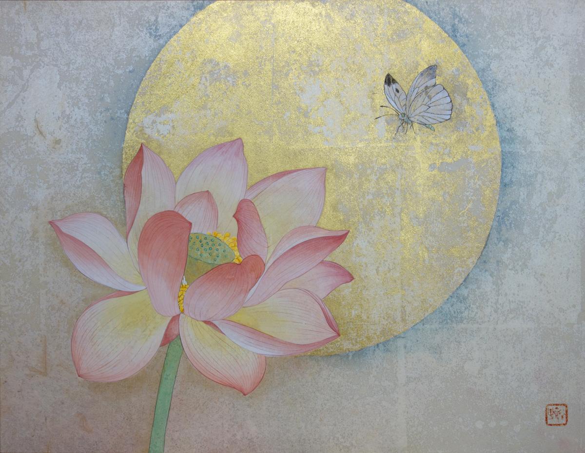 武田裕子「誘い風」紙本彩色, F6