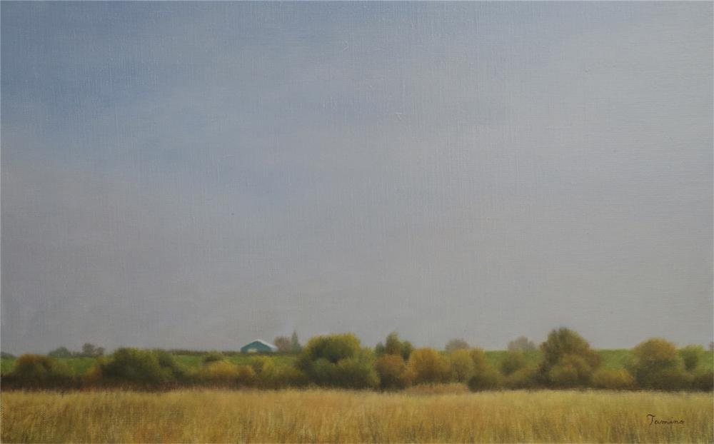 民野宏之「雁来」oil on canvas, M10, 2014