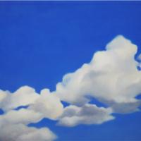 民野宏之「青空と雲」oil on canvas, P40, 2014