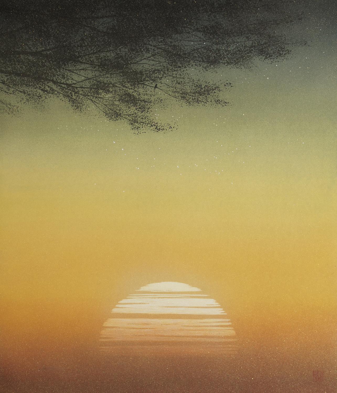 須藤和之「朝日」F10号