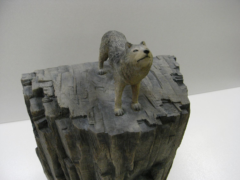 杉浦誠「オオカミ」20.4x17.2x11.4cm
