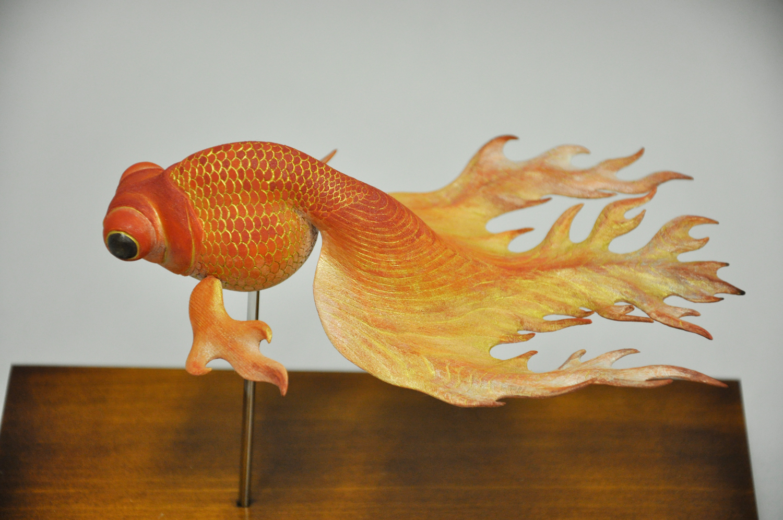 益田芳樹「炎金魚(赤)」