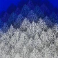 泉東臣「蒼刻」2019年、変形20号(90×40cm)