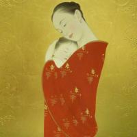 安田育代「葡萄の母子」12号