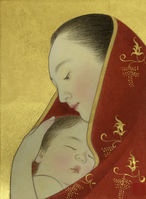 安田育代「母と子」