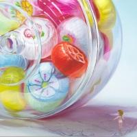 青山ひろゆき「Candy ball」455×606mm,油彩・キャンバス