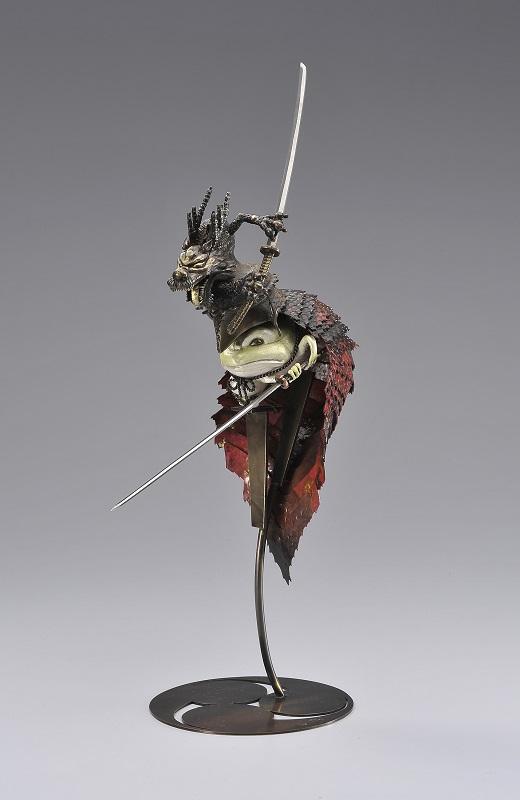 祝迫芳郎「蛇をにらみ返すカエル刺客赤龍刀逆鱗刀蛙」