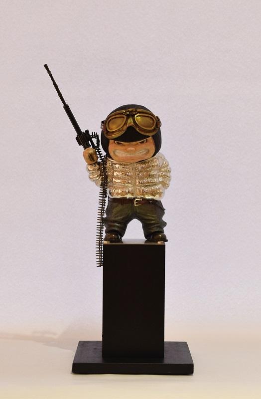 aj_祝迫芳郎「BATTLE KIDS~ダウンジャケット(白)・機関銃~」