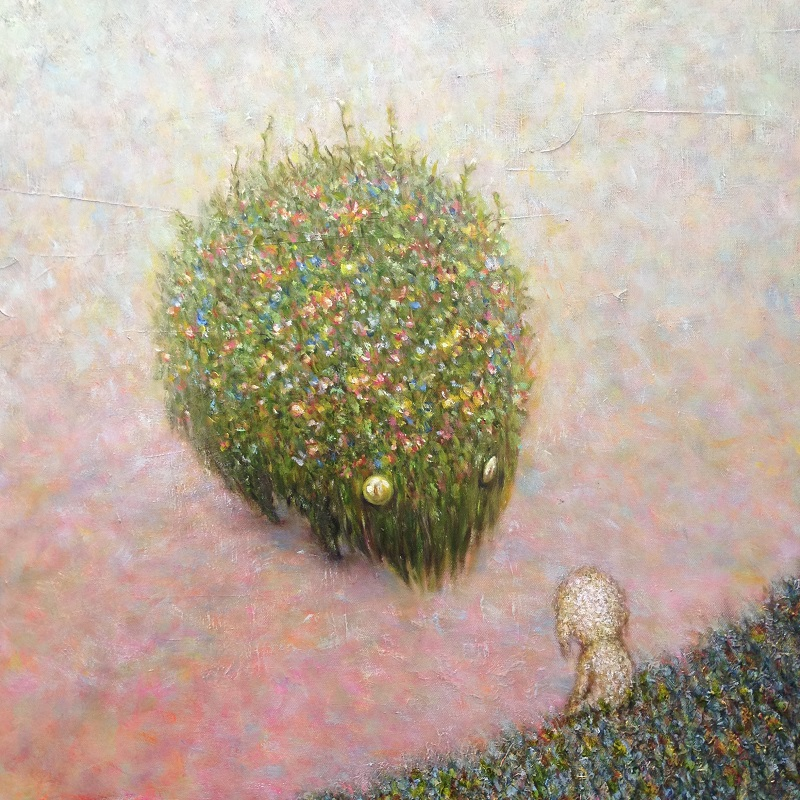 「花獣」S10号 キャンバス 油彩