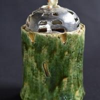 相場るい児「猫又竹香炉」9×9×h17cm